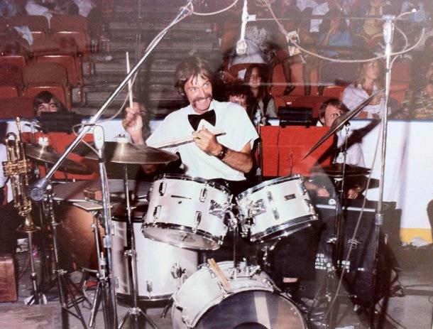 dad at drums
