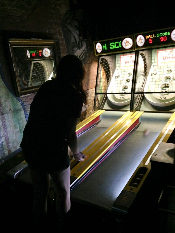 And then beat everyone's ass in skeeball because I'm from the Dirty Myrt and that's what we do.  That's @Megurbani losing with dignity and poise.