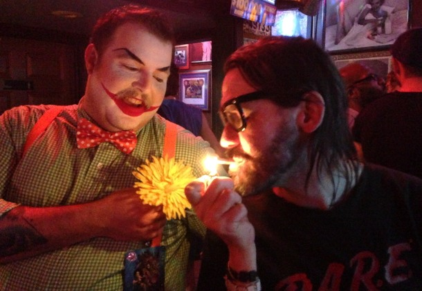 This the cigarette lighting clown with the amazing one and only Josh.